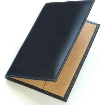 black handmade leather golf scorecards