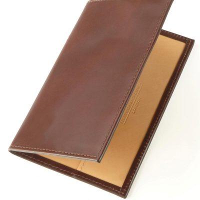 brown handmade leather golf scorecards
