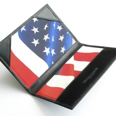 stars and stripes handmade leather golf scorecards