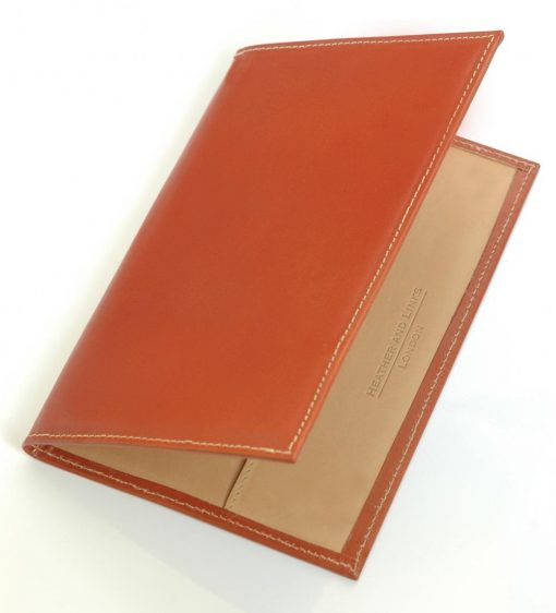 burgandy handmade leather golf scorecards