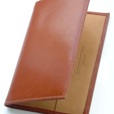 handmade leather golf scorecards