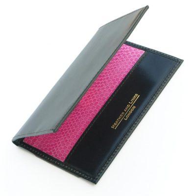 pink handmade leather golf scorecards