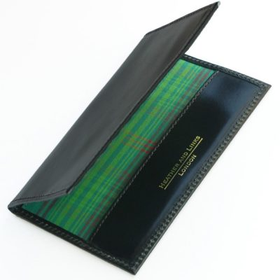 tartan handmade leather golf scorecards