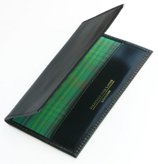 tartan handmade leather golf scorecards