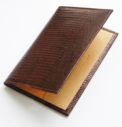 snake handmade leather golf scorecards