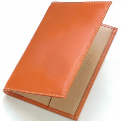 tan handmade leather golf scorecards